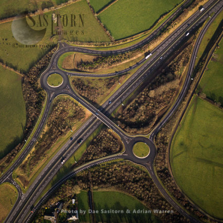 Junction A30/A395 Near Launceston, Cornwall, England