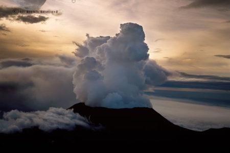 Mount Nyiragongo, Active Volcano In The Virunga Mountains, Virunga National Park, Congo, Great Rift Valley, East Africa