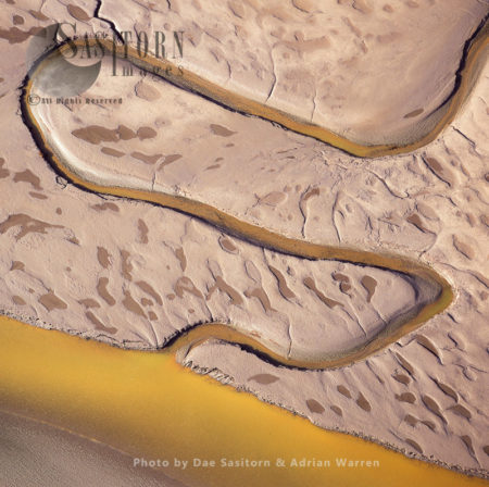 Mudflats On The River Dee Estuary, Flintshire