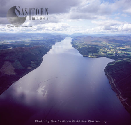 Loch Ness, A Large, Deep Freshwater Loch In The Scottish Highlands, Southwest Of Inverness