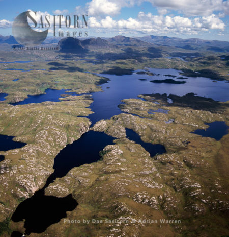Freshwater Lochs, Suilven, Northwest Of Sutherland, Highlands