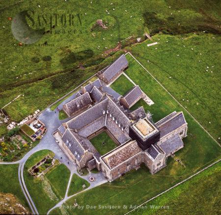 St Mary's Abbey, Iona, Inner Hebrides, West Coast Scotland