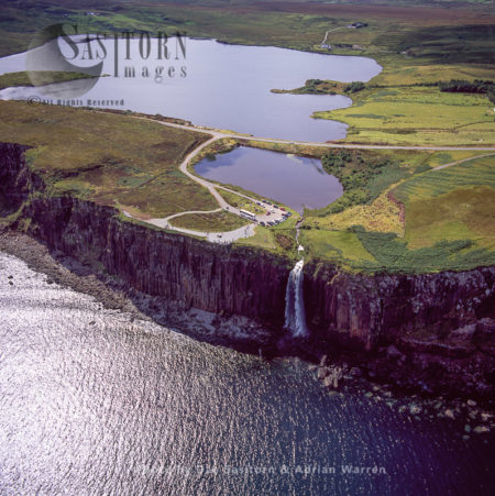Kilt Rock Waterfall - Isle Of Skye, Inner Hebrides, Scotland