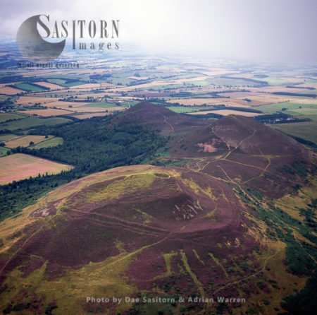 Eildon Hill, Hill Fort South Of Melrose, Borders, Scotland