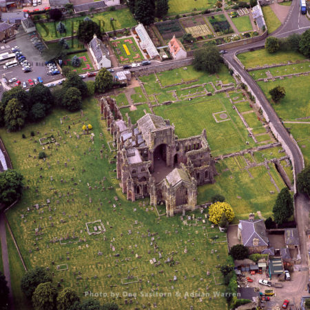 Melrose Abbey, A Gothic-style Abbey In Melrose