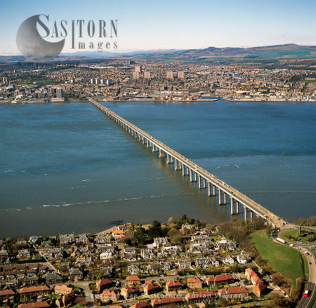 Tay Road Bridges & Dundee In Distance, Firth Of Tay, Scotland
