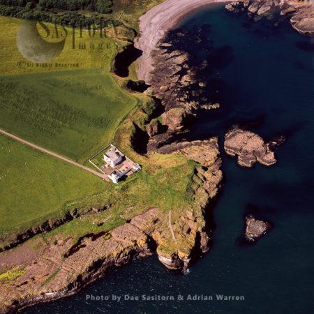 Todhead Point, A Headland With Stevenson-built Lighthouse, Scotland