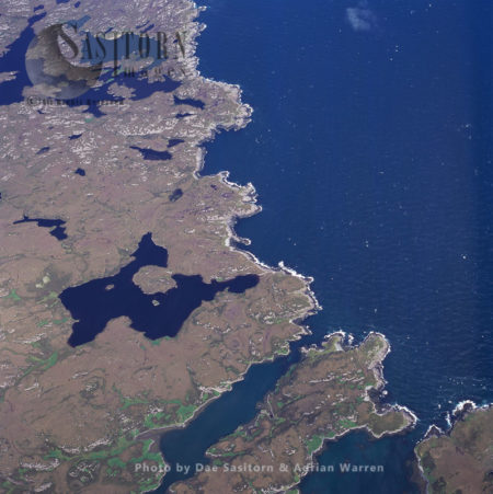North Uist Landscape, Outer Hebrides, West Coast Scotland