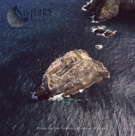 Stac An Armin, Boreray, An Uninhabited Island In The St Kilda Archipelago, Outer Hebrides