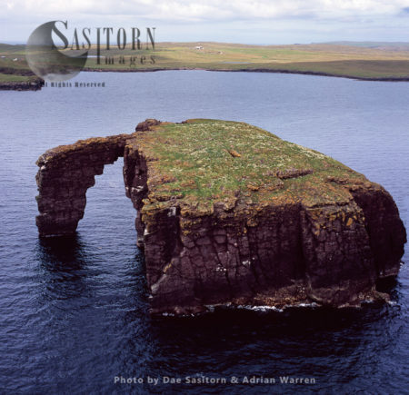 Dore Holm, A Small Islet Off The South Coast Of Eshaness, In The West Of Mainland, Shetland