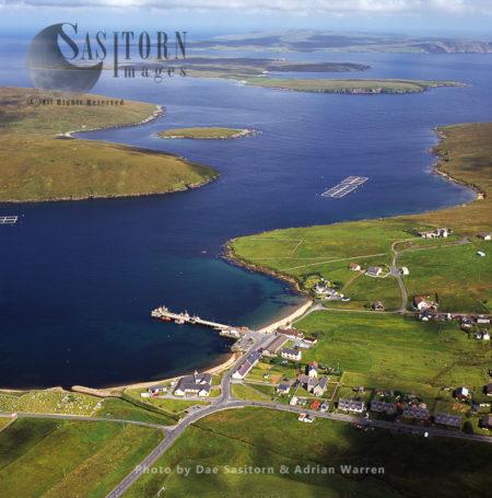 Mid Yell, Coastal Settlement On The Island Of Yell, Shetland Islands