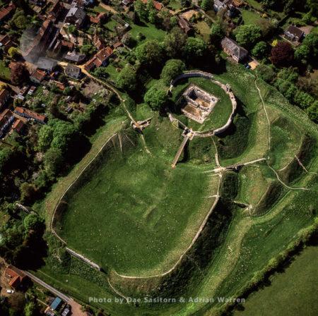 Castle Acre Castle, Motte-and-bailey Norman Castle,  Castle Acre, Norfolk