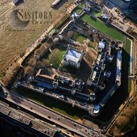 Tower Of London And The River Thames, London