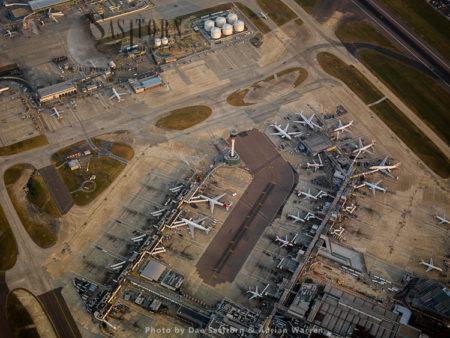 Heathrow Airport, Cargo Terminal And Runway