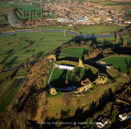 Tutbury Castle And River Dove, Staffordshire