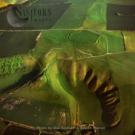 Uffington White Horse With Uffington Castle Hill Fort, Oxfordshire