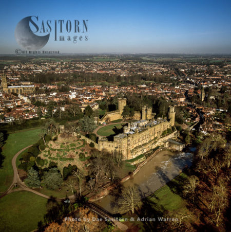 Warwick Castle And River Avon, Warwickshire