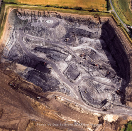 Opencast Coalmine At Stobswood, Near Morpeth, Northumberland