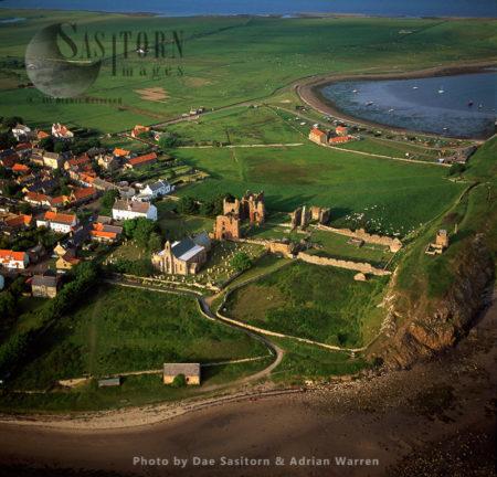 Lindisfarne Priory, Holy Island, Northumberland,