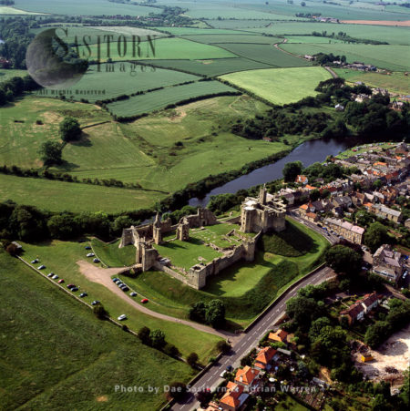 Warkworth Castle, River Coquet, Northumberland