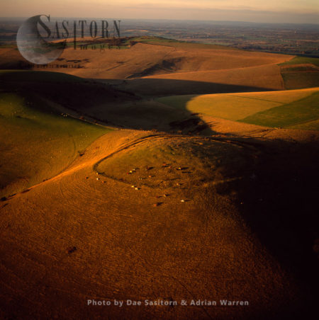 Iron Age Hill Fort On Mount Caburn, East Sussex