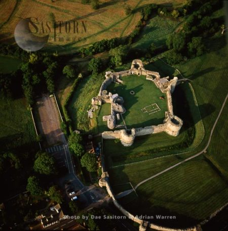 Pevensey Castle, A Medieval Castle And Former Roman Fort, East Sussex