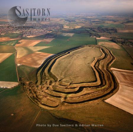 Maiden Castle, An Iron Age Hill Fort, Near Dorchester, Dorset