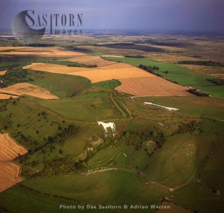 Westbury White Horse And Bratton Camp Hill Fort, Westbury, Wiltshir