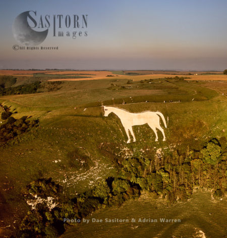 Westbury White Horse And Bratton Camp Hill Fort, Wiltshire