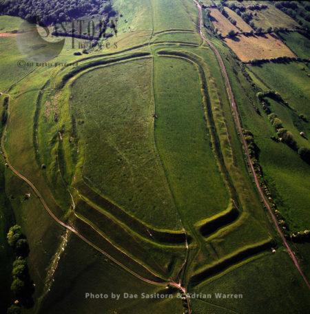 Eggardon Hill. An Iron Age Hill Fort, On Chalk Uplands Near Bridport, Dorset