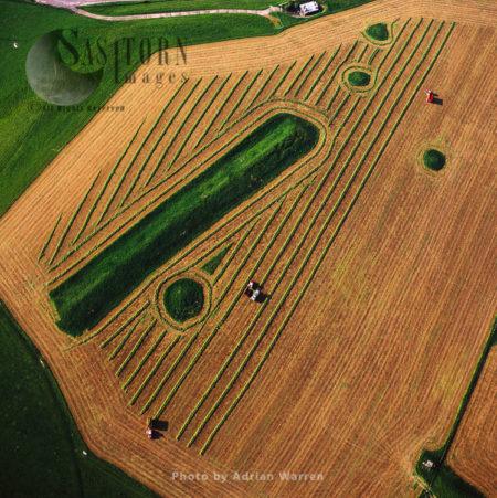 Long Bredy Bank Barrow, Neolithic Burial Mound, Long Bredy, Near Dorchester, Dorset