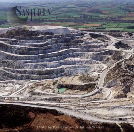 China Clay Quarries, St. Austell, Cornwall