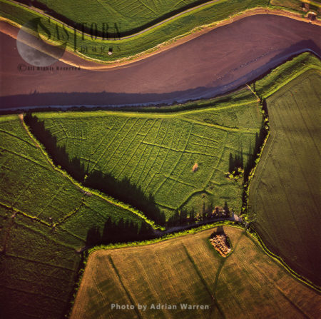 Deserted Medieval Village By River Parrett, Somerset