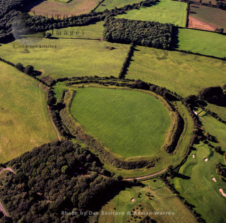 Maesbury Camp Hillfort, Somerset, England