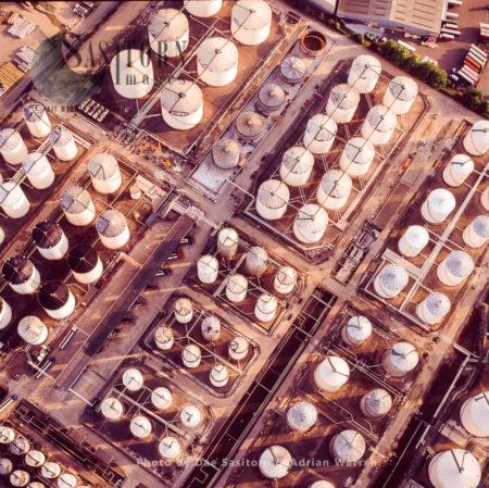 Oil Depot At Perfeet, Thames Estuary, Essex, England