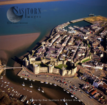 Caernarfon (or Caernarvon), Castle And Town, North Wales