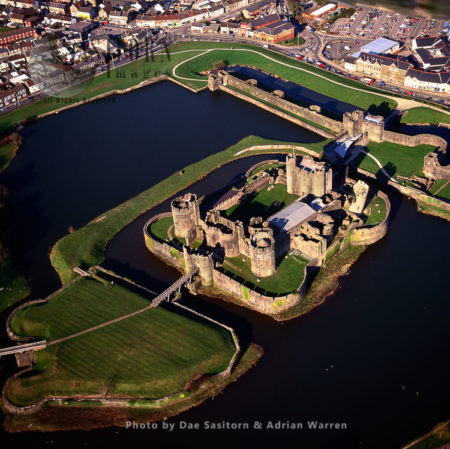 Caerphilly Castle, Largest Castle In Wales, South Wales