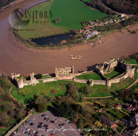 Chepstow Castle, Overlooking River Wye, Chepstow, South Wales