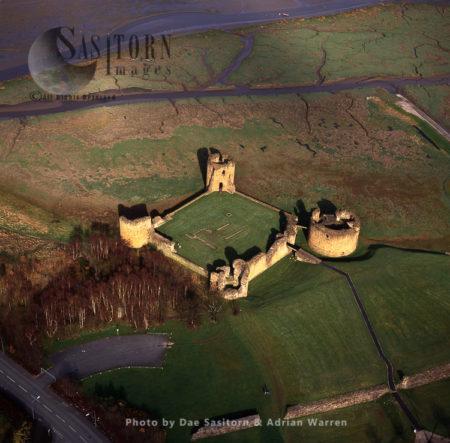 Flint Castle, Stone Enclosure Castle By Dee Estuary, North Wales