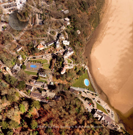 Portmeirion, A Tourist Village In Gwynedd, North Wales. It Was Designed And Built In The Style Of An Italian Village