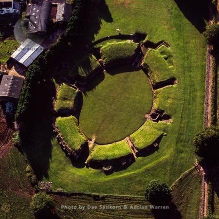 Caerleon Amphitheatre, A Legionary Fortress In The Roman Province Of Britannia, Caerleon, Wales