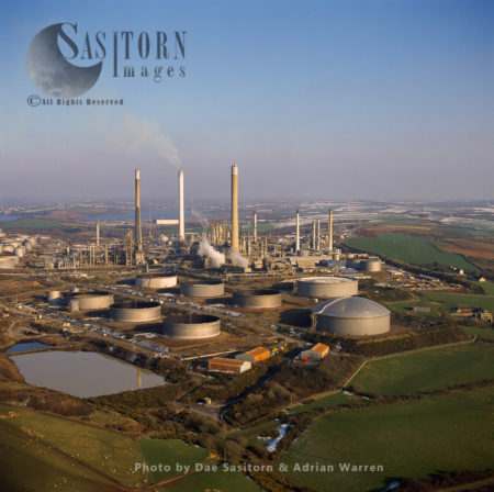 Oil Refinery, Milford Haven, Pembrokeshire, South Wales