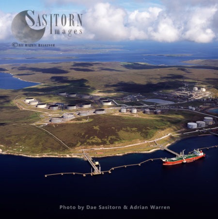 Sullom Voe Oil Terminal , An Inlet Between North Mainland And Northmavine), Mainland Shetland, Scotland