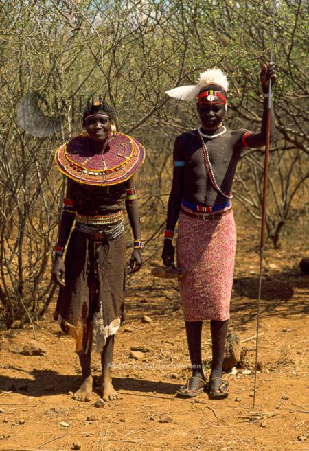 POKOT People, Couples, Northern Kenya, 1990, Africa
