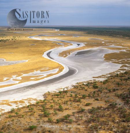 Etosha Pan On The Western End Connecting To The River Oshigambo
