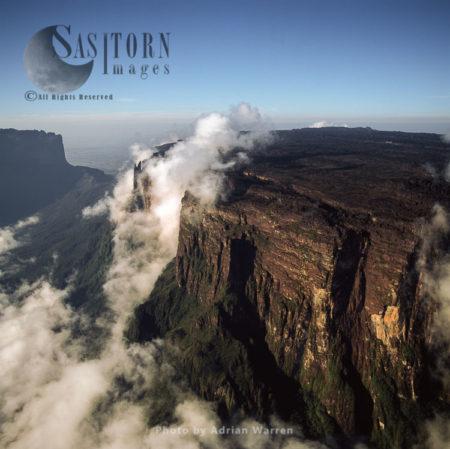 Eastern Cliff Of Mount Kukenaam (Kukenan, Cuguenan), Tepuis, Canaima National Park, Venezuela