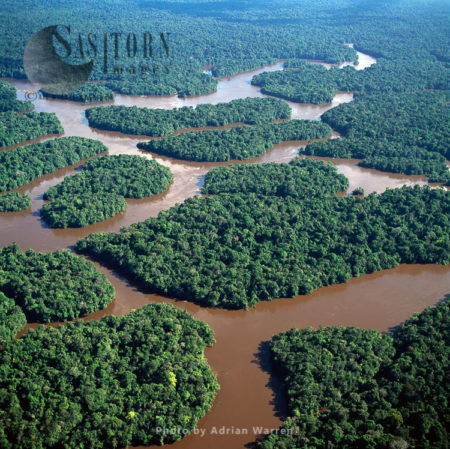 Lower Mazaruni River With Islands Of Tropical Rain Forest, Hororabo, Near Bartica, Guyana