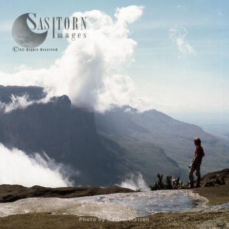 View From The Summit Of Roraima To Mount Kukenaam, Tepuis, Venezuela