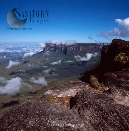 From The Summit Of Mount Roraima (Cerro Roraima), Looking Across To Mount Kukenaam, Estado Bolivar, Venezuela