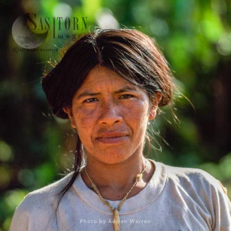 Waorani Indian Woman : Rio Cononaco, Ecuador, 2002